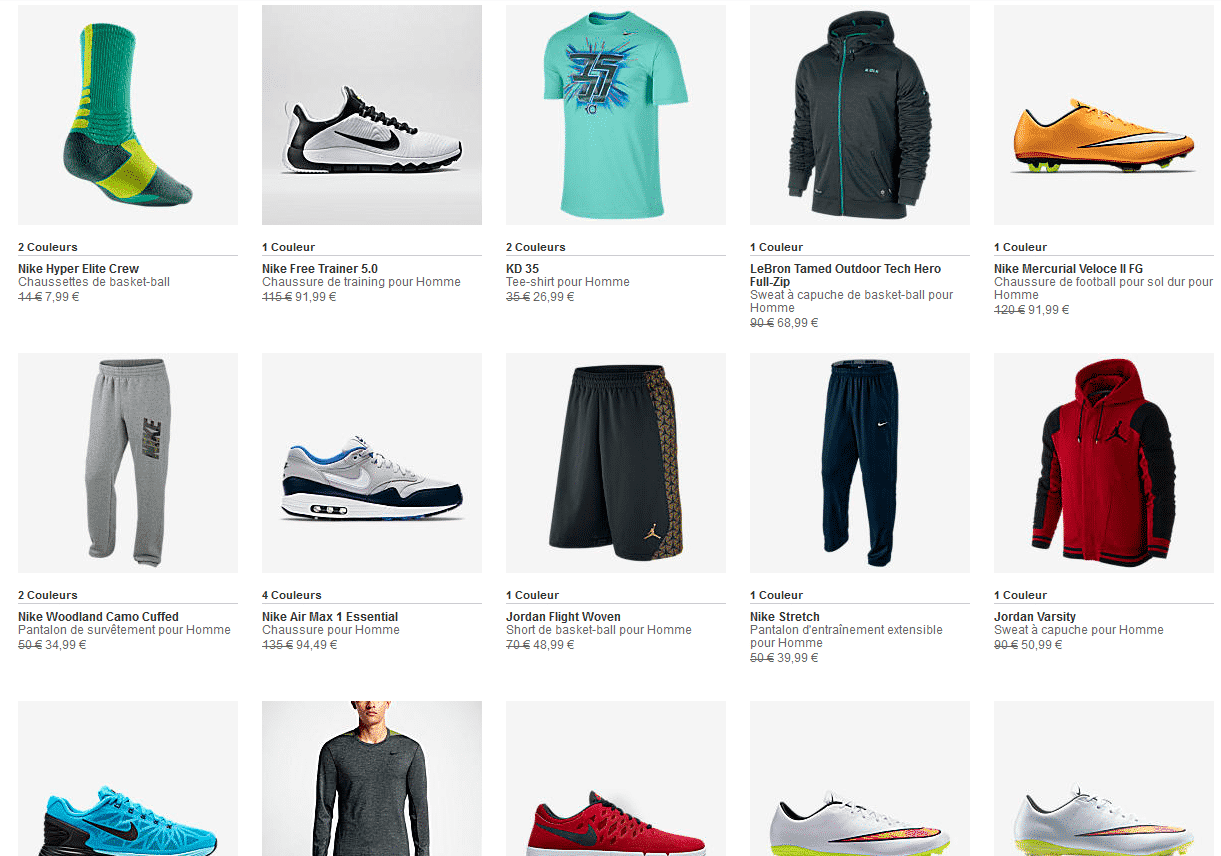 Nike 10 sur les articles sold s bon plan - Bon de reduction trend corner ...