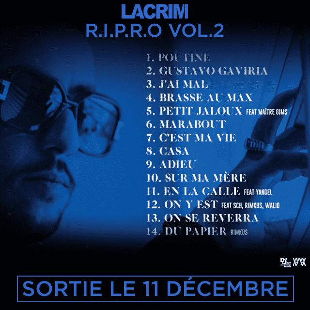 image lacrim tracklist album RIPRO vol 2