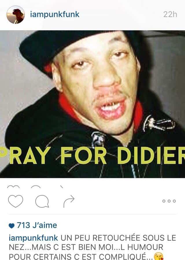 image joey starr instagram clash réponse à maitre gims