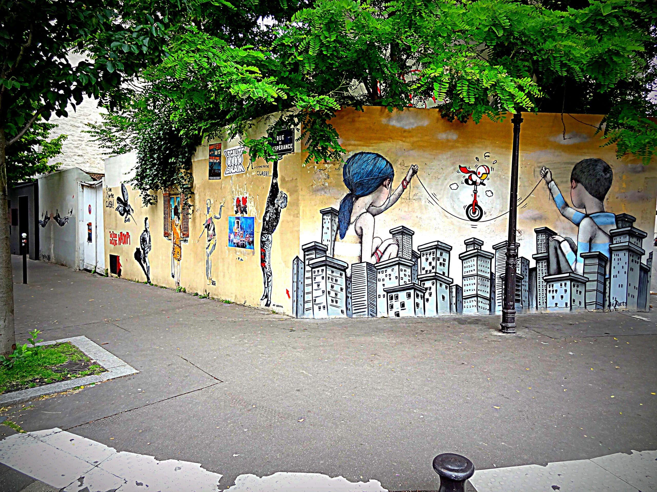 Image paris la butte aux cailles zig zag street art - Restaurant butte aux cailles ...