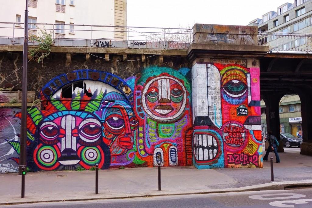 image parisian shoe gals mur street art