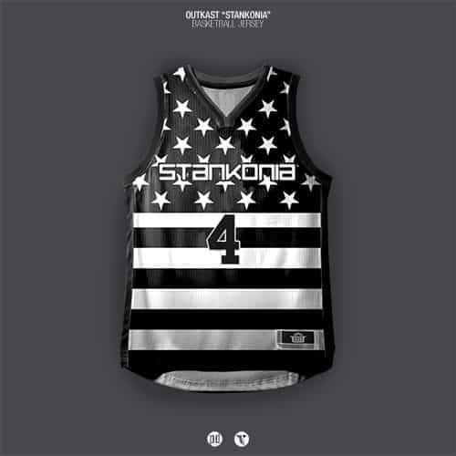 image album outkast stankonia transformé en maillot de basket