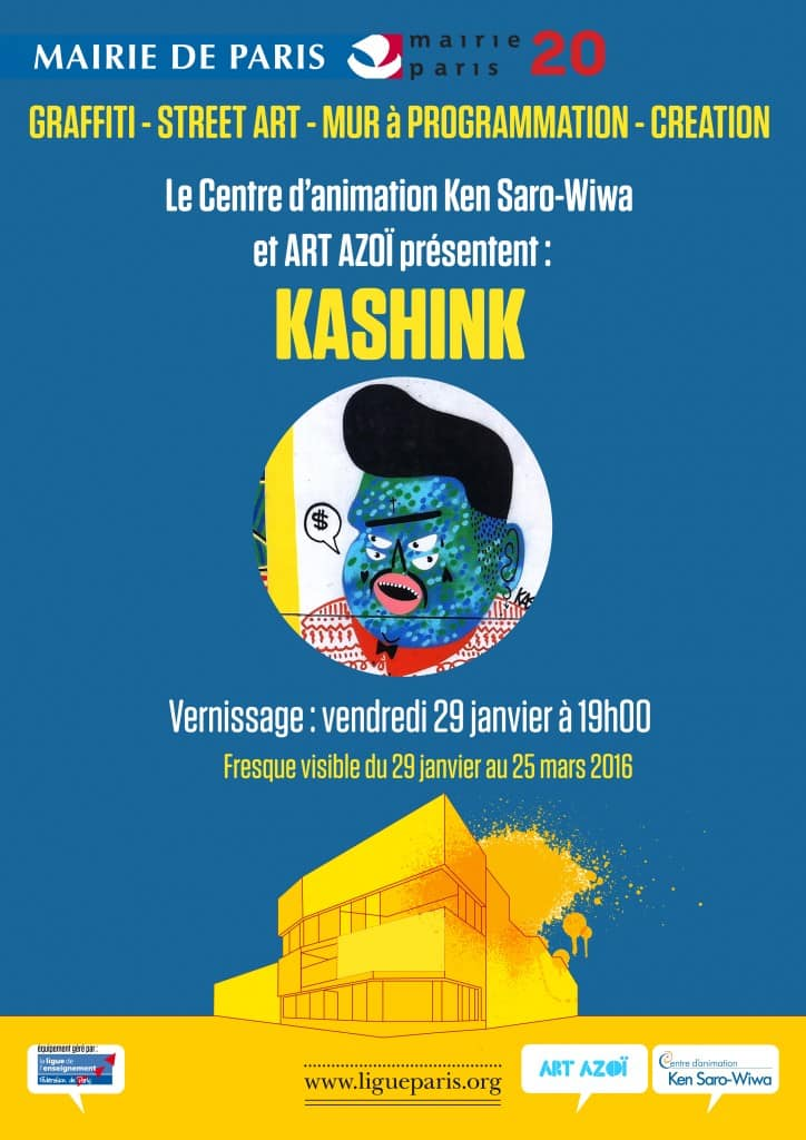image kashink vernissage 29 janvier 2016 street art