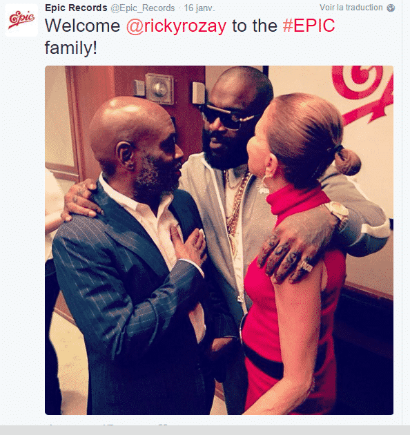 image rick ross du tweet du label epic