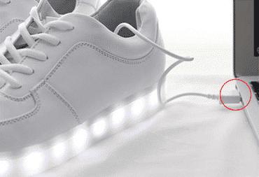 image chaussures LED autonomie 10H sneakers