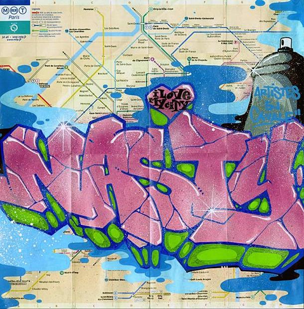 image plan de metro nasty street art