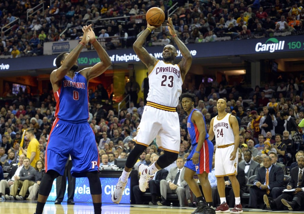 image nba Detroit Pistons face Cleveland Cavaliers Playoffs 2016