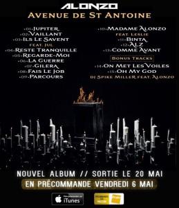 image alonzo tracklist album avenue de saint antoine