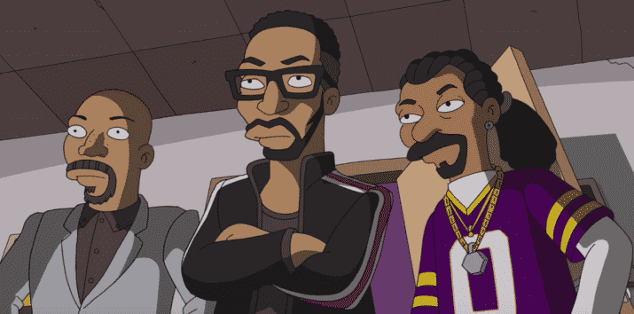 Image RZA Common et Snoop Dogg épisode Simpson