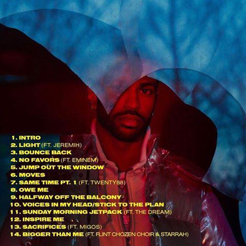 image tracklist I Decided album de Big Sean