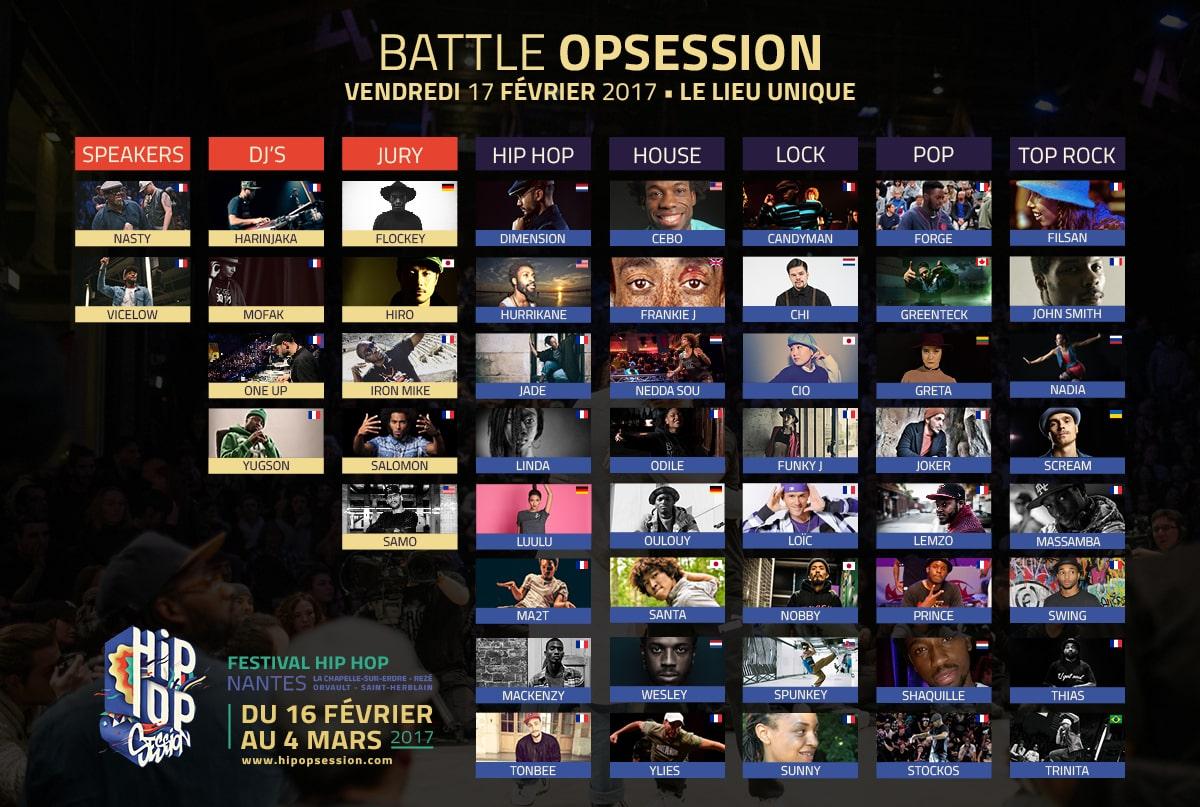 image Line up battles J1 hip opsession 2017