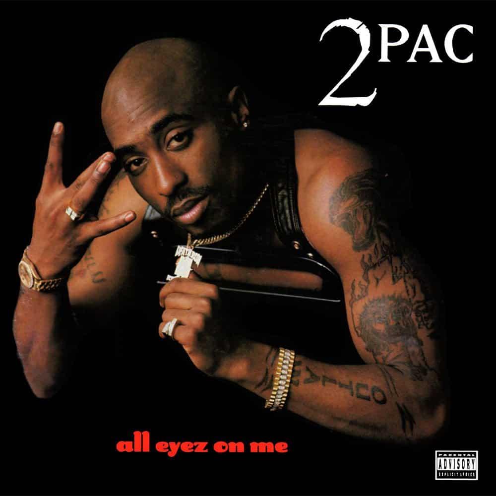 image cover album All Eyez On Me de Tupac