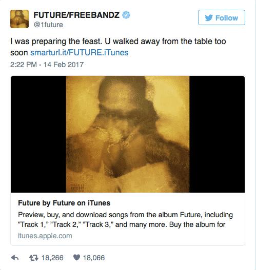 image tweet Future nouvel album 2017