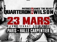 image Patrice Quarteron vs James Wilson