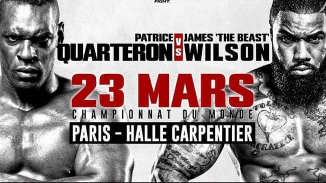 image Patrice Quarteron vs James Wilson