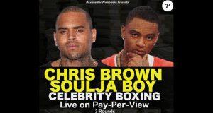 image affiche combat boxe Chris Borwn vs Soulja Boy