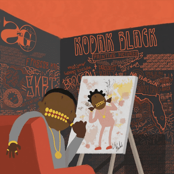 image cover Kodak Black painting pictures
