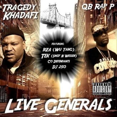 image cover album Live Generals de Tragedy Khadafi et QB Rap