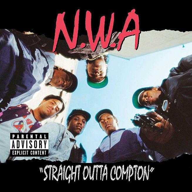 image cover album Straight Outta Compton de NWA
