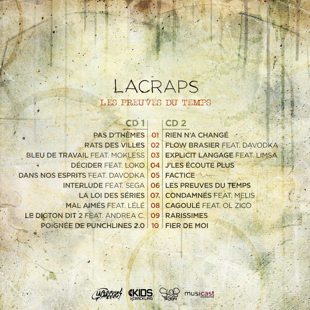 image cover tracklist album Les Preuves du Temps de LaCraps