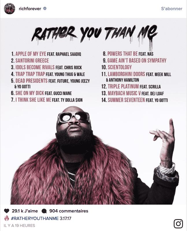 image tracklist album Rather You Than Me de Rick Ross