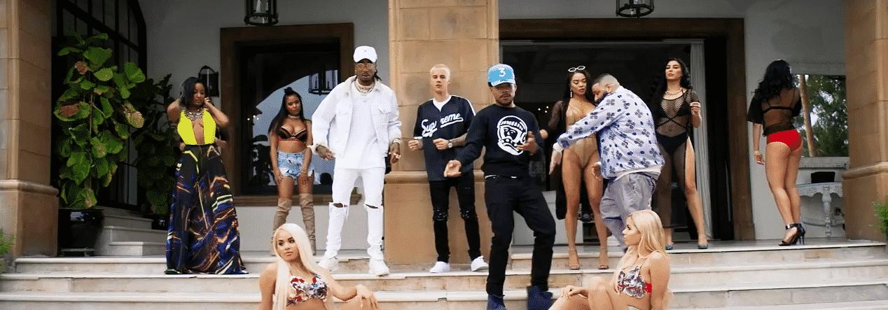 image DJ Khaled, Justin Bieber, Chance The Rapper, Quavo du clip I'm The One