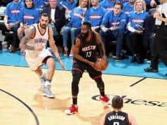 image James Harden Houston Rockets v Oklahoma City Thunde GAME 3 2017