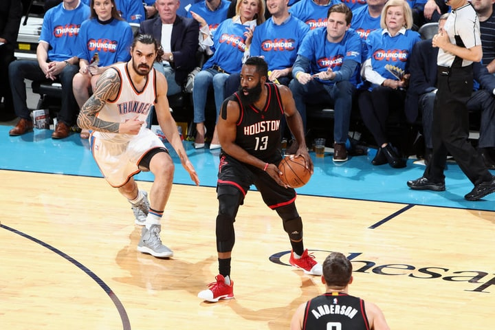 image James Harden Houston Rockets v Oklahoma City Thunde GAME 3 2017