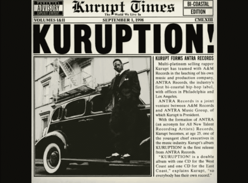 image cover album Kuruption de Kurupt