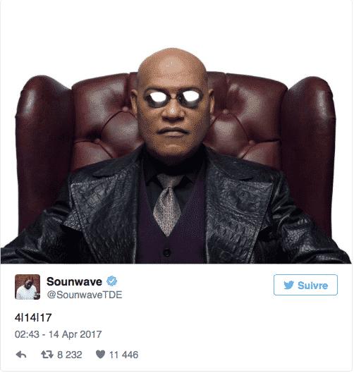 tweet Morpheus Sounwave rumeur album NATION de Kendrick Lamar