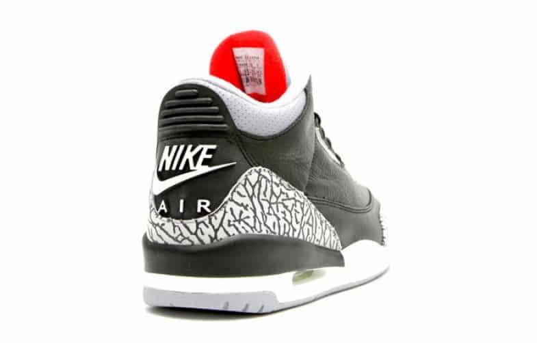 Image Air Jordan 3 OG Black Cement derrière