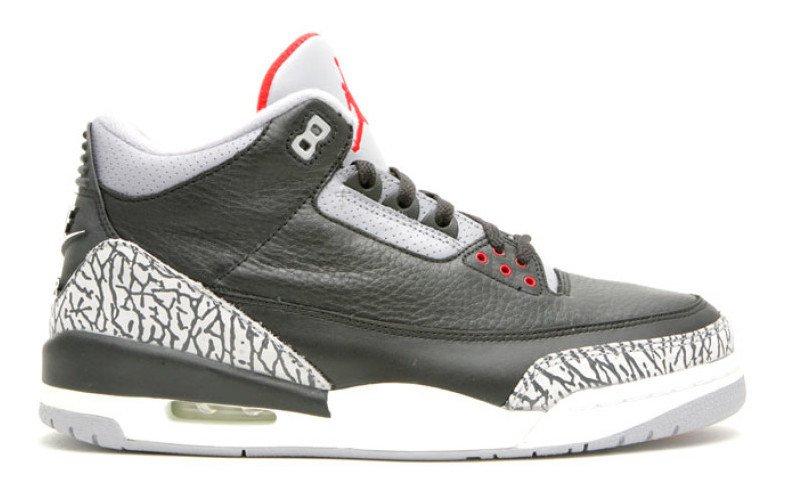 image Air Jordan 3 OG Black Cement intérieur