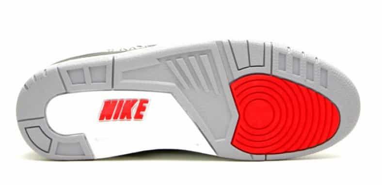 image Air Jordan 3 OG Black Cement semelle