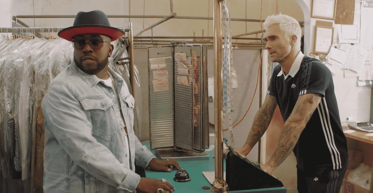 image Big Boi et Adam Levine du clip Mic Jack