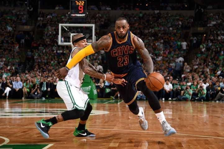 image Lebron James cleveland cavaliers boston celtics game 1 playoffs 2017