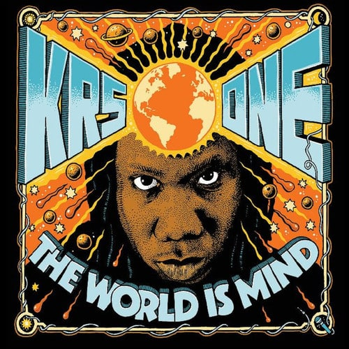 image cover krs one album the world is mind
