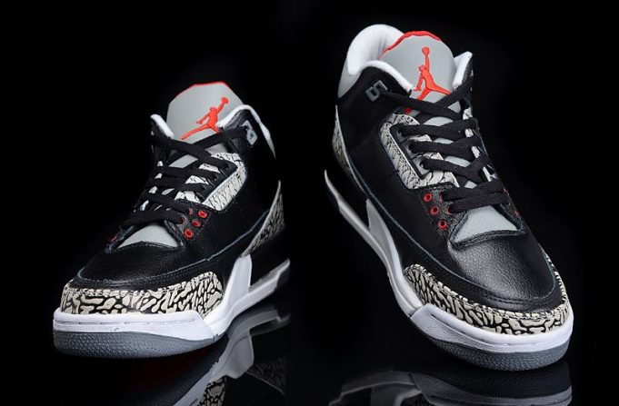 image double Air Jordan 3 OG Black Cement