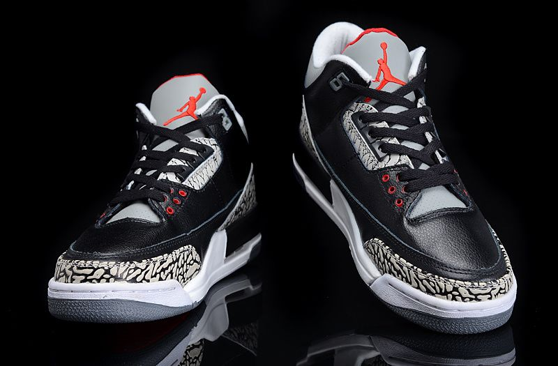image double Air Jordan 3 OG Black Cement