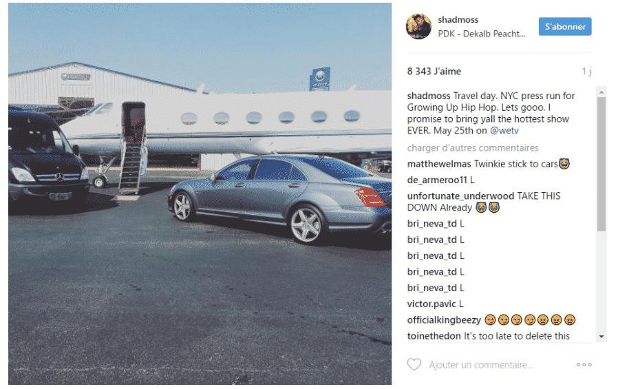 image jet privé Bow Wow Instagram