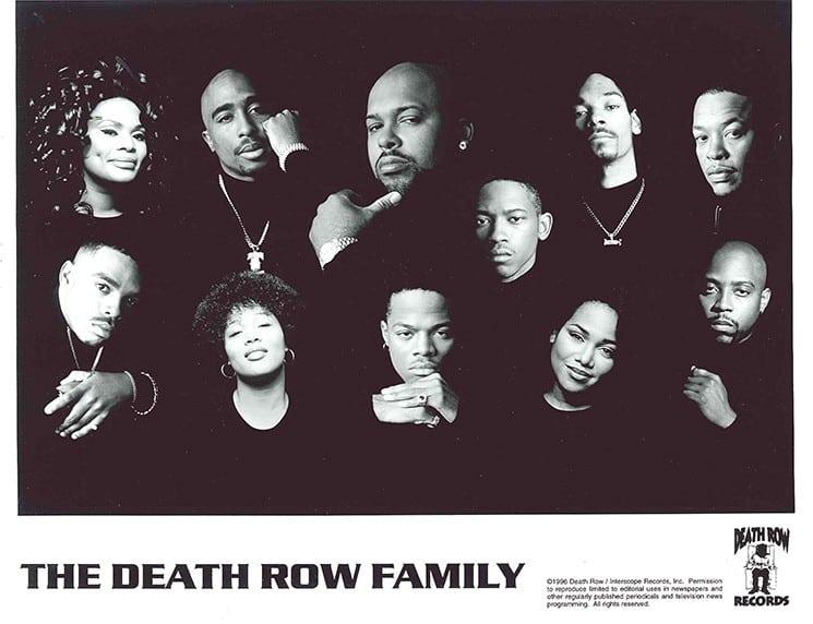image les artistes du label Death Row Records