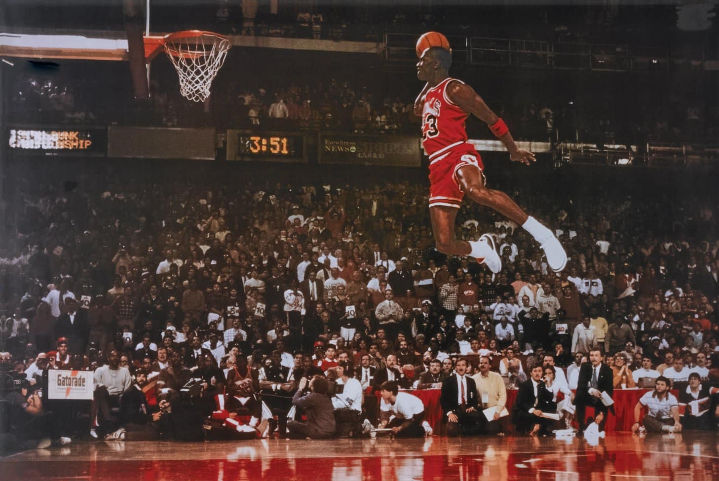 image michael jordan dunk slam dunk contest 1988 throw line