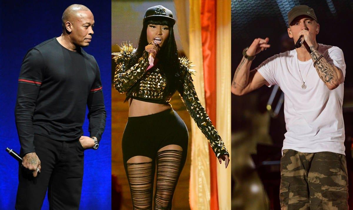 image Dr Dre Nicki Minak Eminem article Nicki Minaj veut un son avec Emineme et Dre