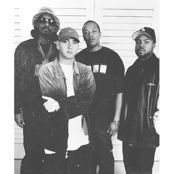 image Snoop Dogg, Eminem, Dr Dre et Ice Cube période The Up In Smoke Tour