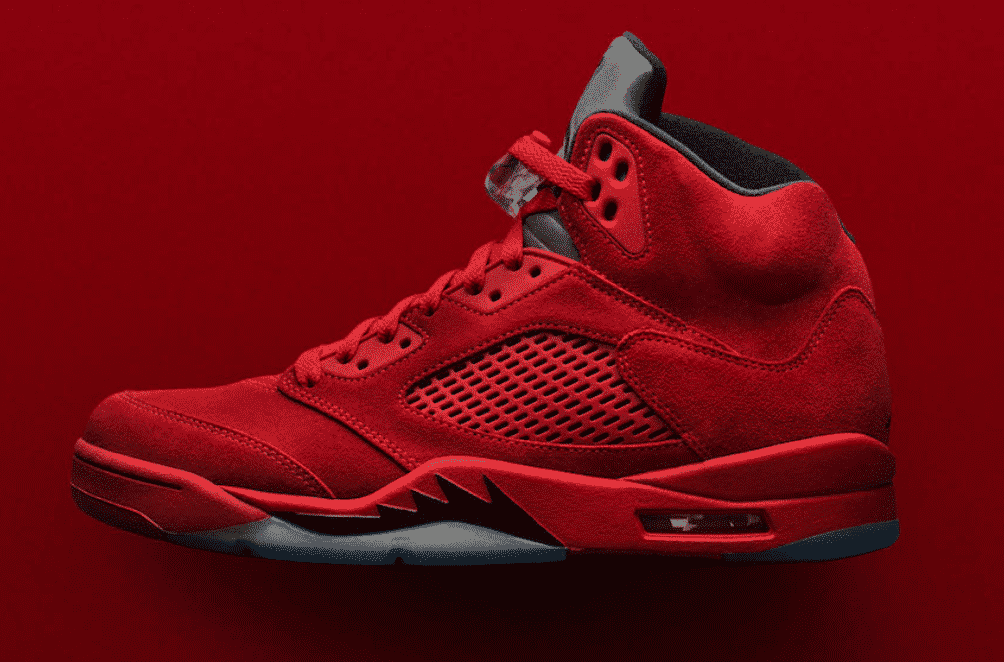 image air jordan 5 red suede