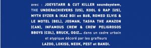 image artistes invités au Paris Hip Hop Festival 2017