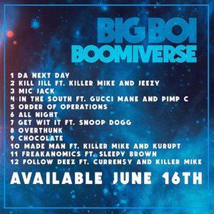 image cover tracklist album Boomiverse de Big Boi