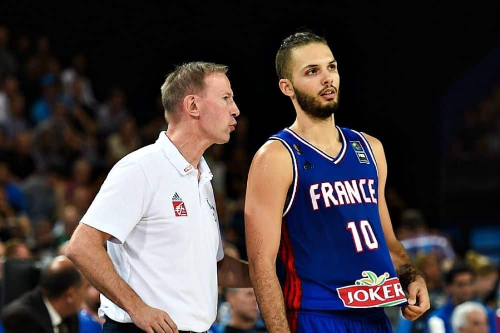 image evan fournier vincent collet équipe de france basket