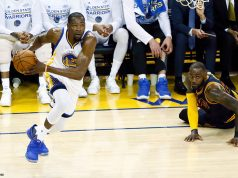image kevin durant cross lebron james warriors cavs game 2 2017
