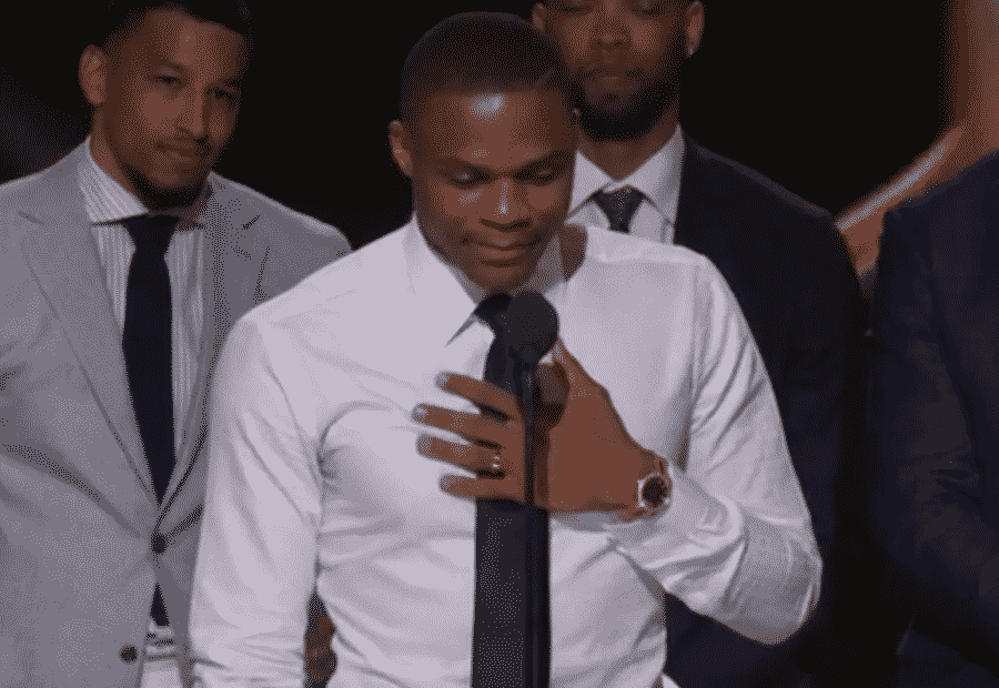 image russell westbrook discours mvp 2017