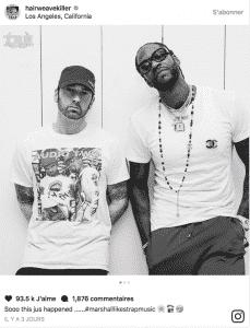 image screen Instagram Eminem et 2 Chainz